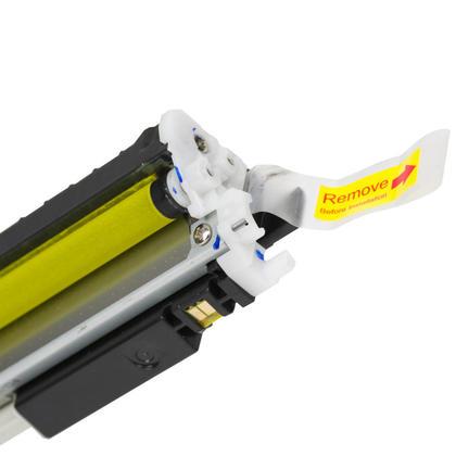 Compatible HP 126A CE312A cartouche de toner jaune - Moustache - 2/paquet