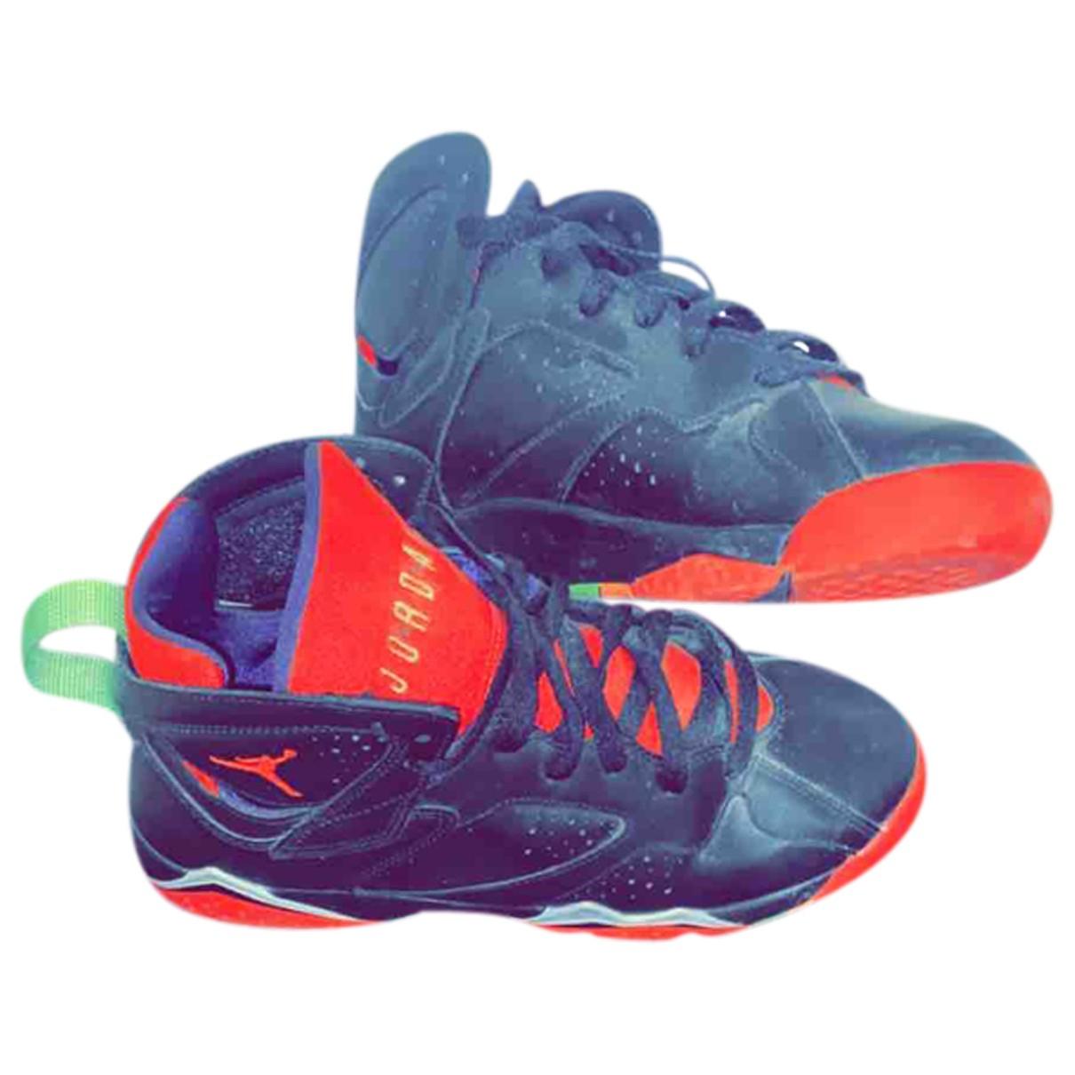 Jordan - Baskets Air Jordan 7 pour homme en cuir - noir