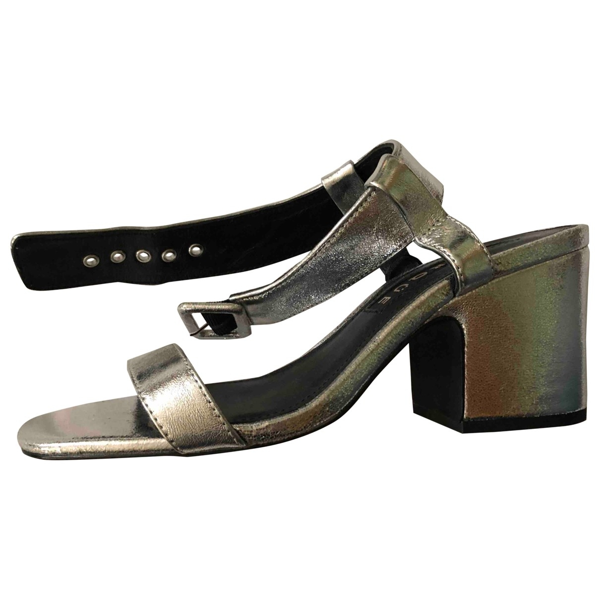 Uterque \N Silver Leather Sandals for Women 38 EU