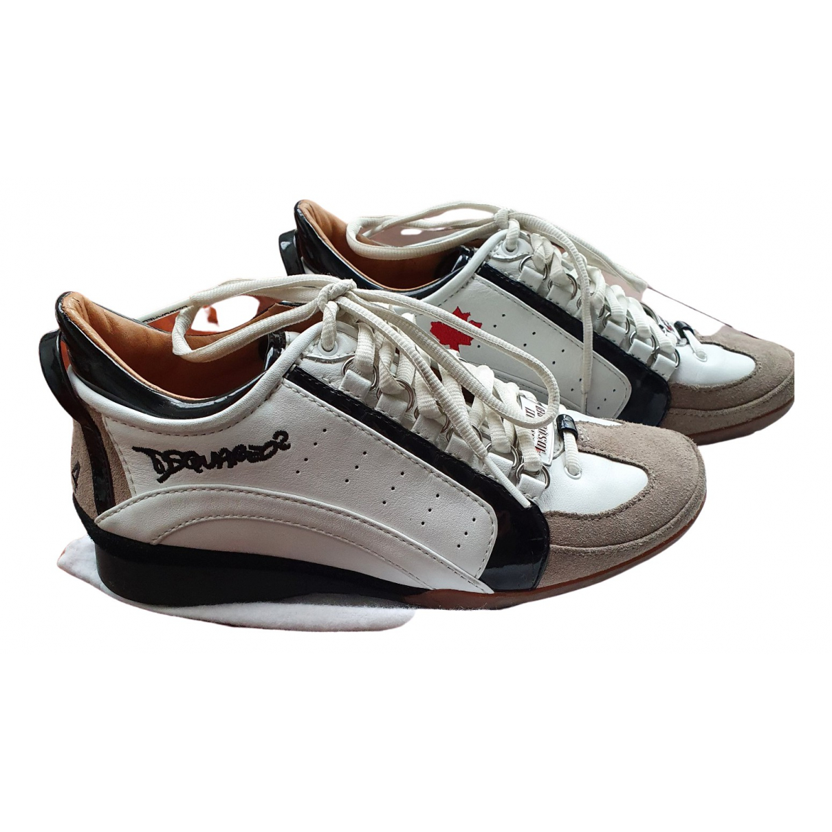 Dsquared2 \N Multicolour Leather Trainers for Women 36 EU