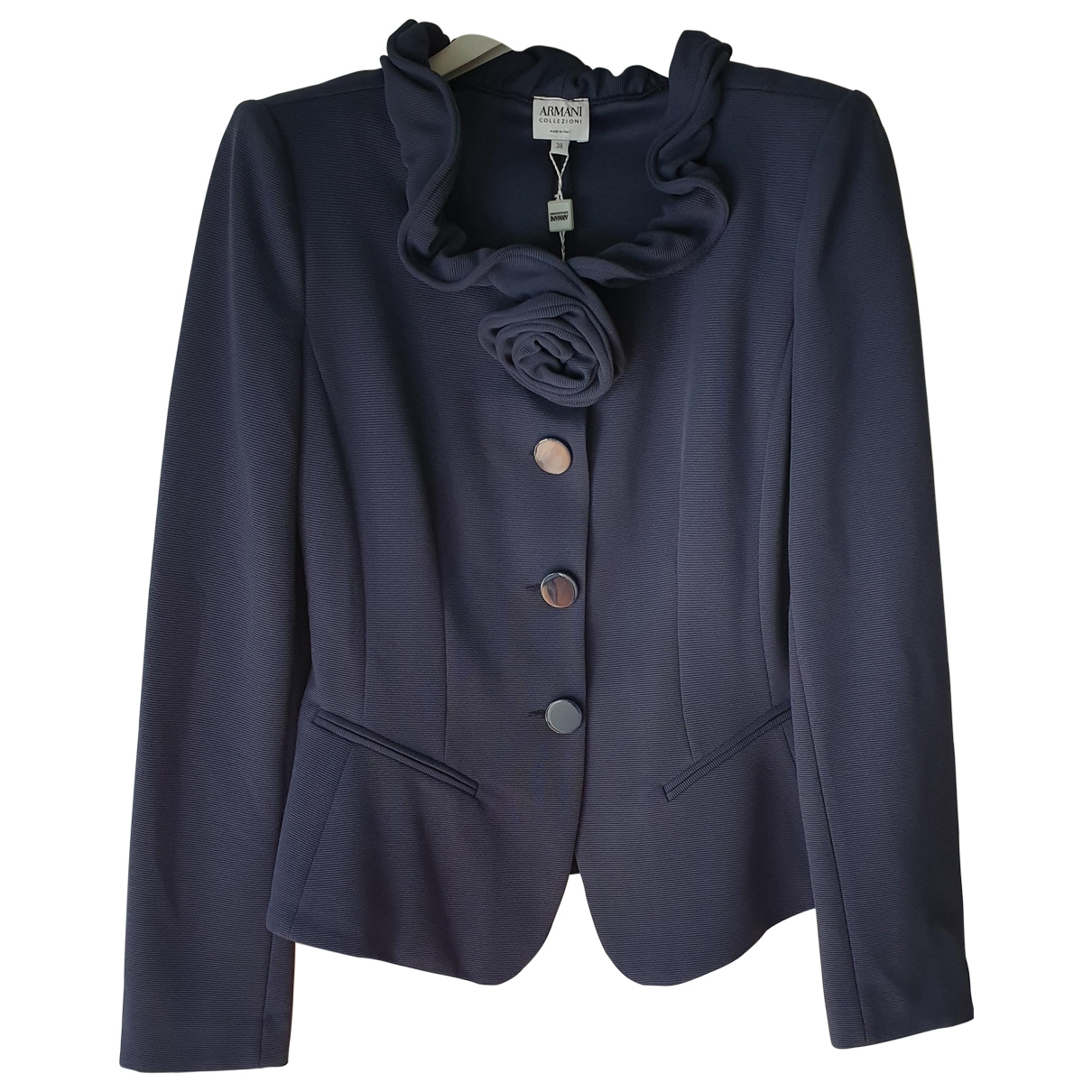 Armani Collezioni \N Navy jacket for Women 38 IT
