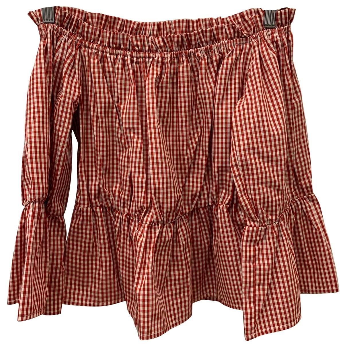 Dondup - Top   pour femme en coton - rouge
