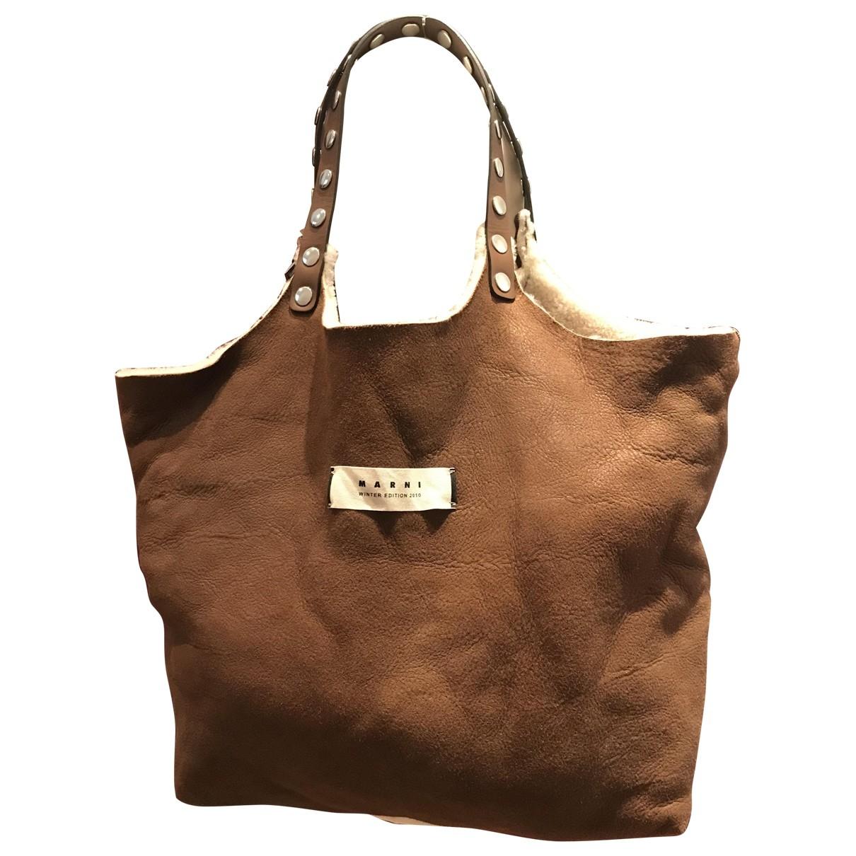 Marni \N Camel Leather handbag for Women \N