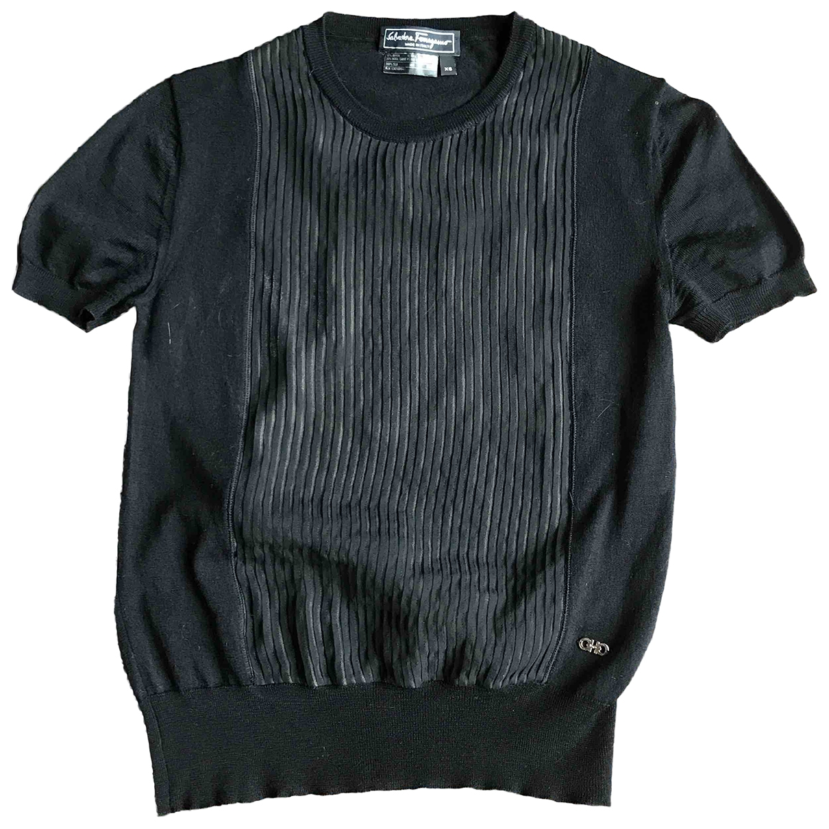 Salvatore Ferragamo \N Top in  Schwarz Wolle