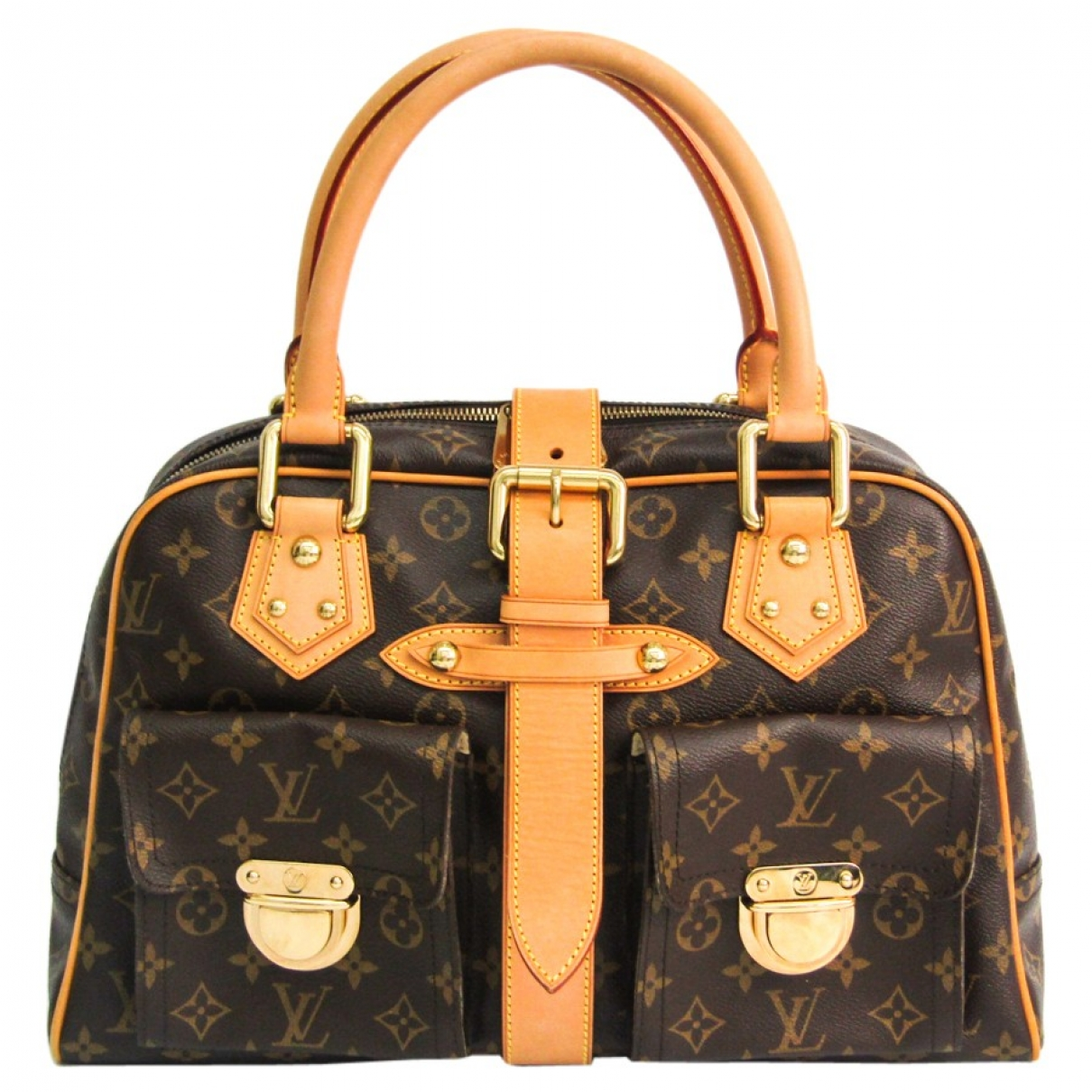 Louis Vuitton Manhattan Brown Cloth handbag for Women \N