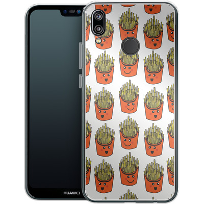 Huawei P20 Lite Silikon Handyhuelle - Happy Fries von caseable Designs