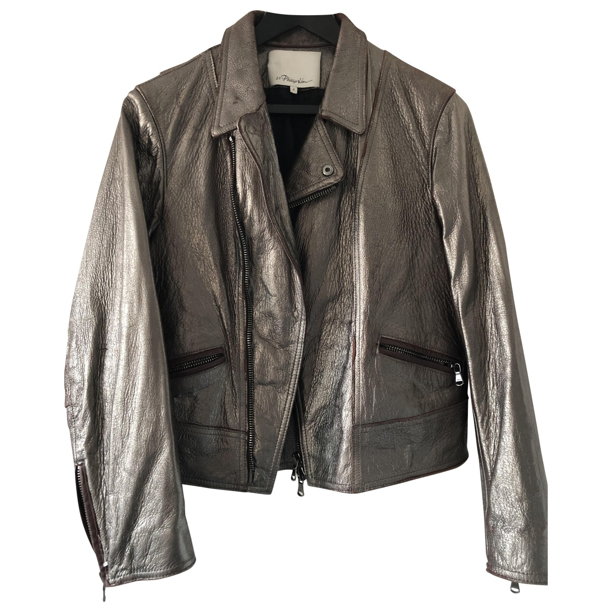 3.1 Phillip Lim \N Metallic Leather jacket for Women One Size 0-5