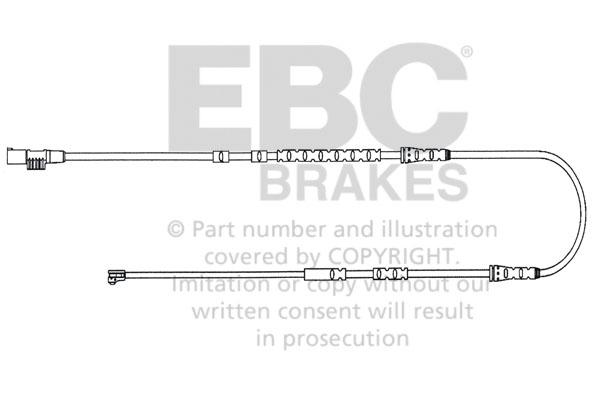 EBC Brakes EFA144 High quality OE style wear lead sensor BMW Z4 2010-2011 3.0L 6-Cyl