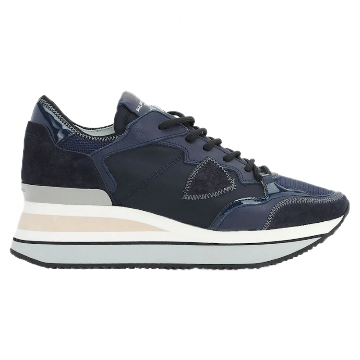 Philippe Model \N Black Leather Trainers for Women 36 EU