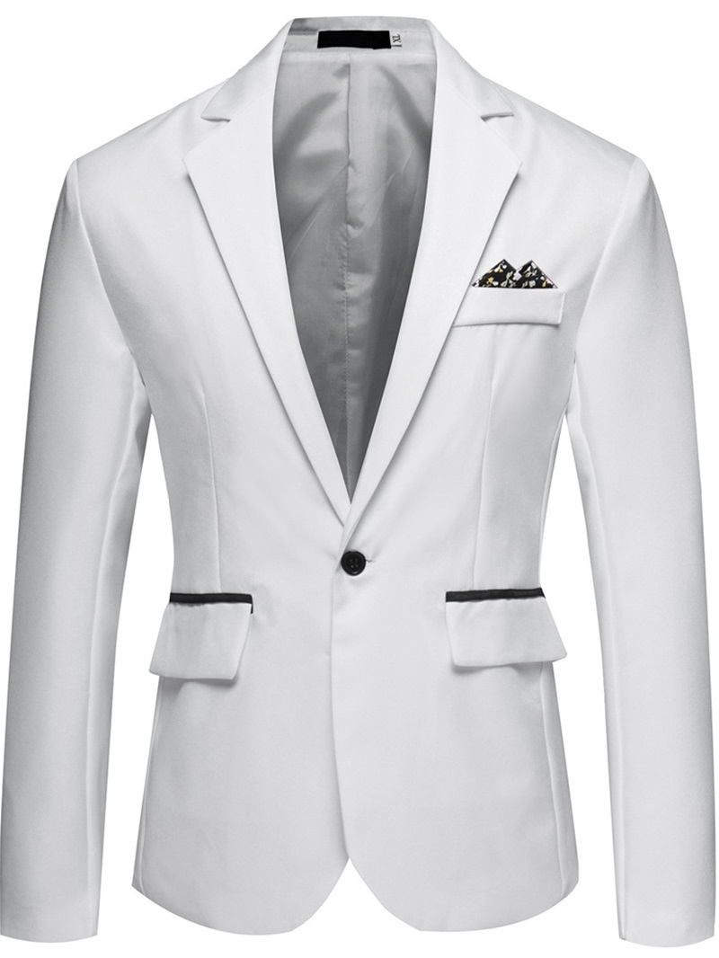 Ericdress Plain One Button Casual Men's Leisure Blazers