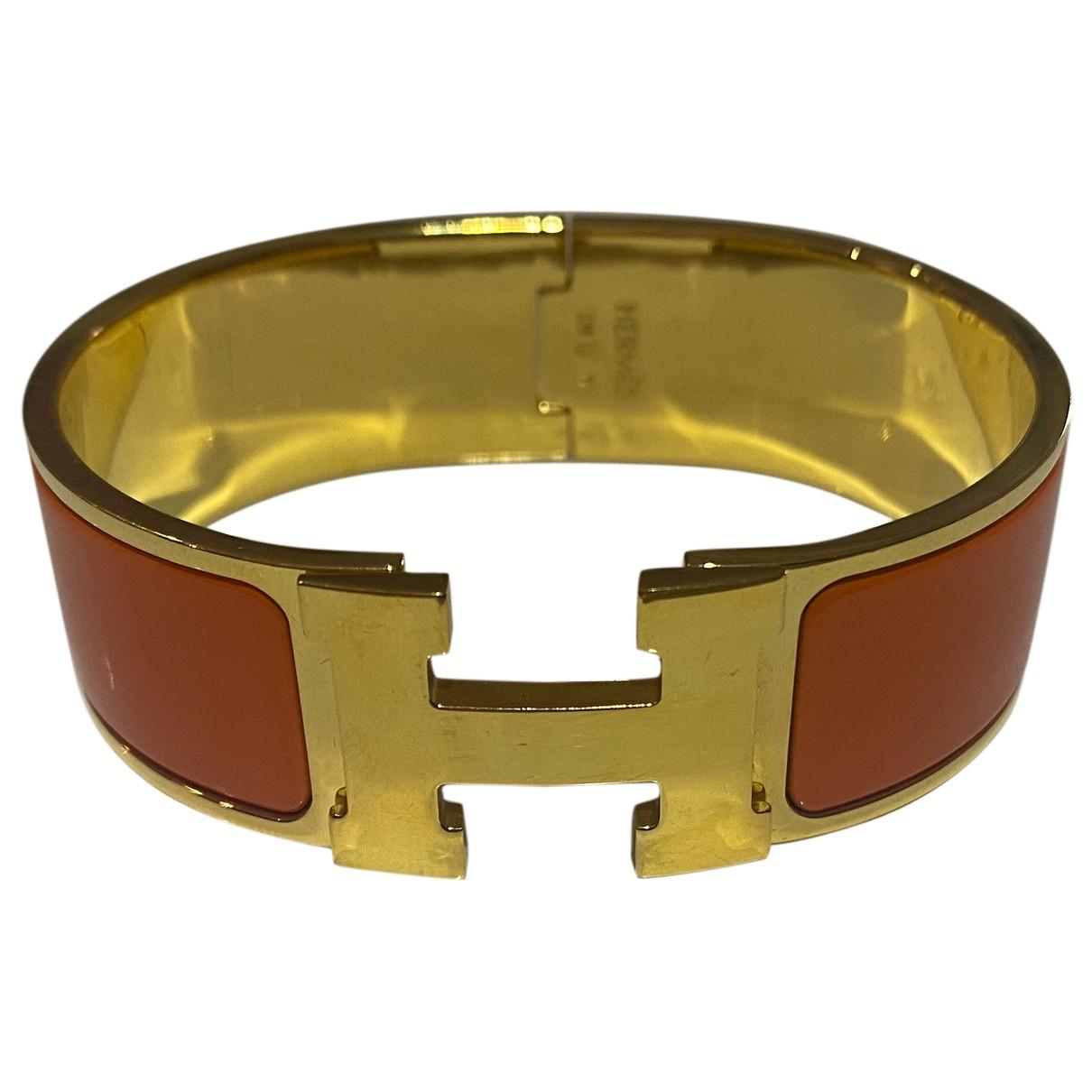 Hermès Clic H Orange Metal bracelet for Women N