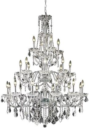 V2015G36C/RC 2015 St. Francis Collection Chandelier D:36In H:49In Lt:24 Chrome Finish (Royal Cut