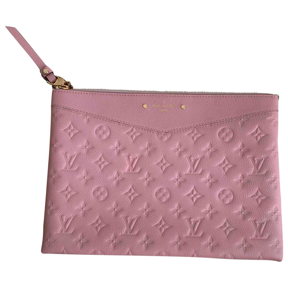 Louis Vuitton \N Clutch in  Rosa Leder