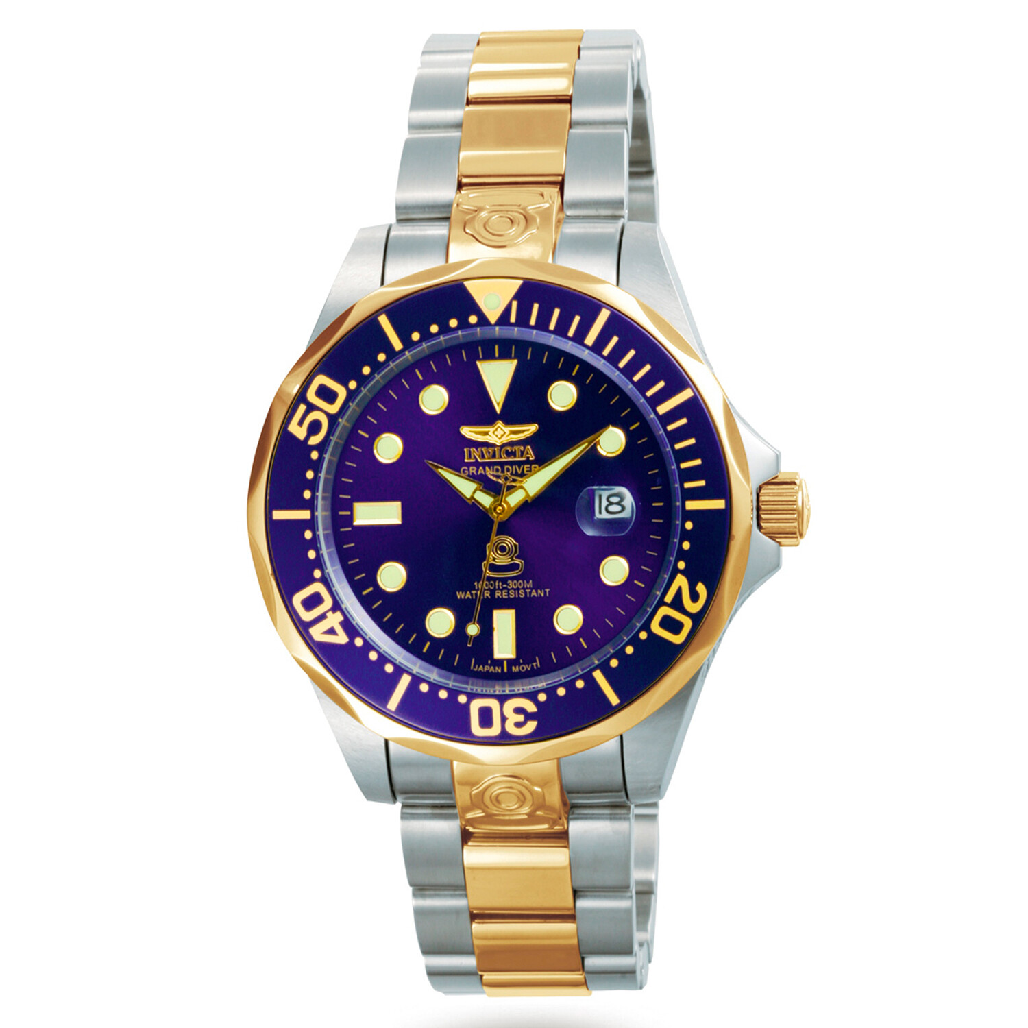 Invicta Men's Grand Diver 3049 Blue Stainless-Steel Plated Automatic Self Wind Diving Watch