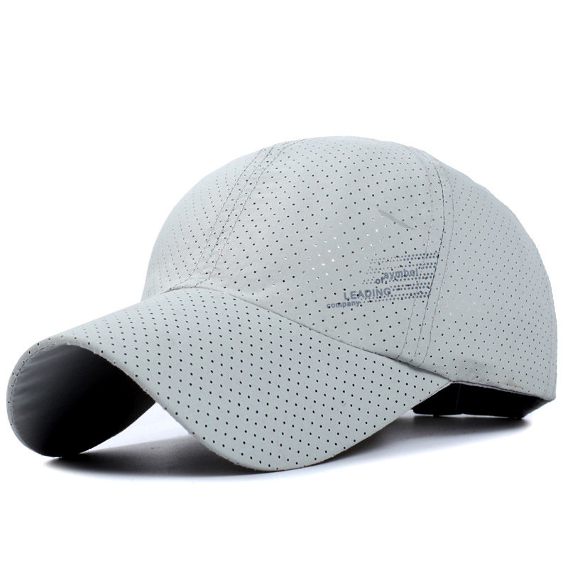 Men Thin Breathable Quick Dry Baseball Cap Sunshade Leisure Outdoor Mesh Sun Hat