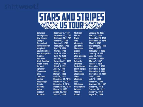 Stars And Stripes Us Tour T Shirt