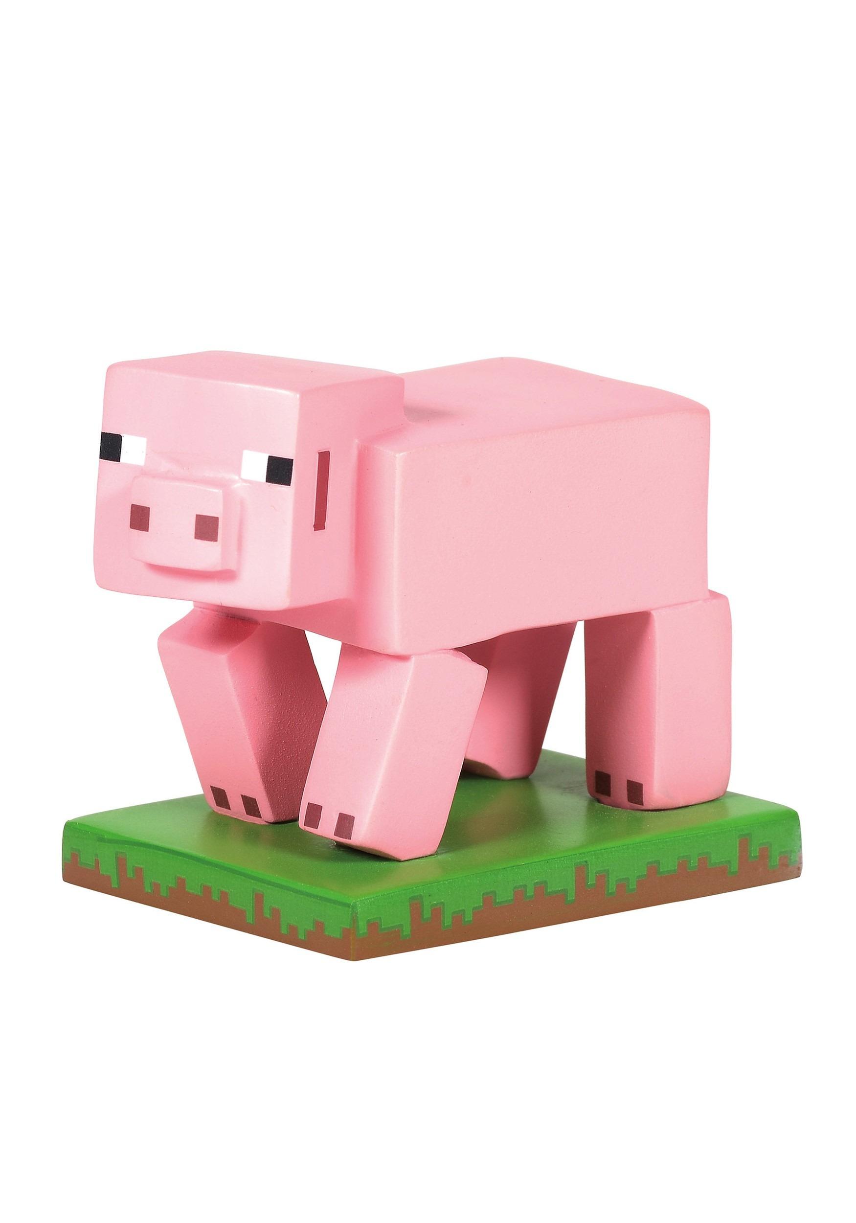 Minecraft Pig Figurine