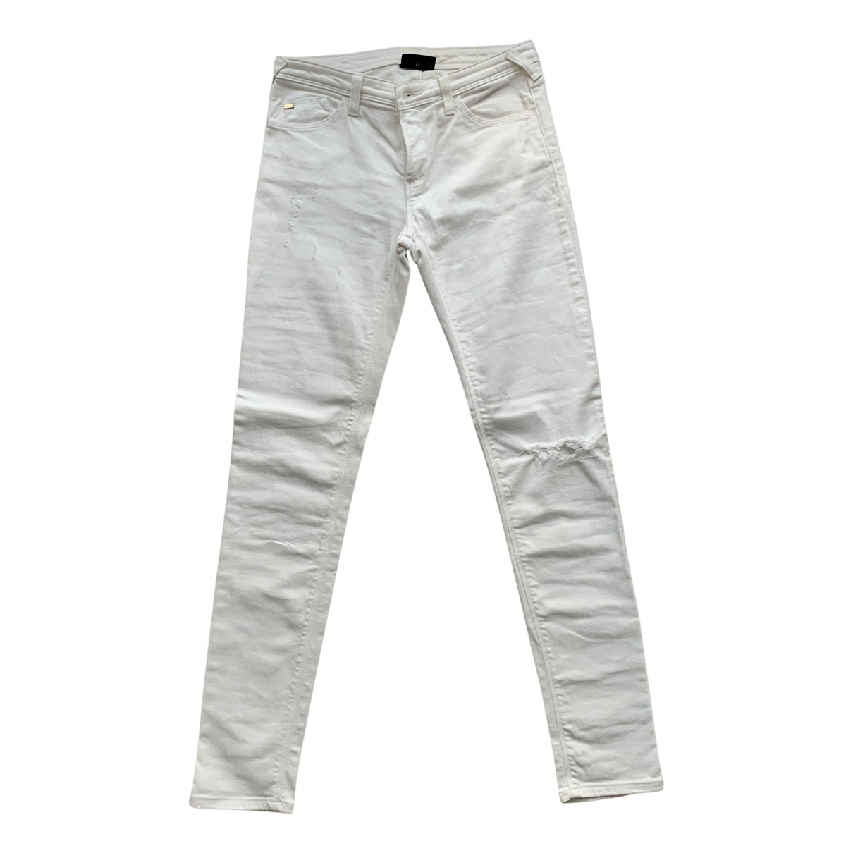 Armani Jeans N White Cotton - elasthane Jeans for Women 28 US
