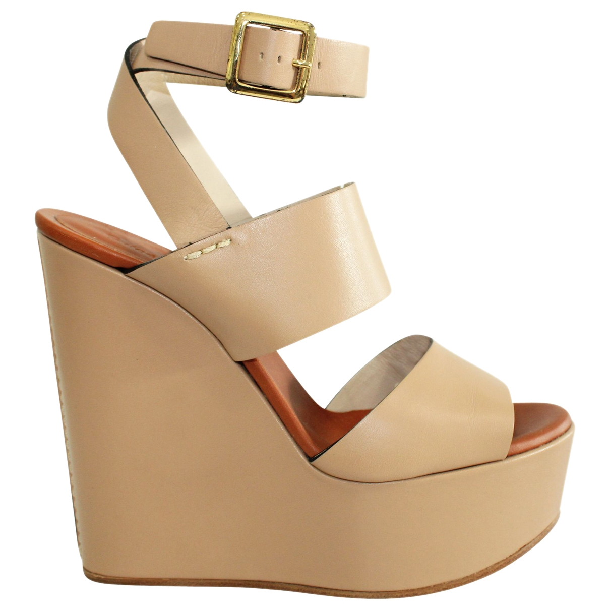 Chloé \N Brown Leather Sandals for Women 37 EU