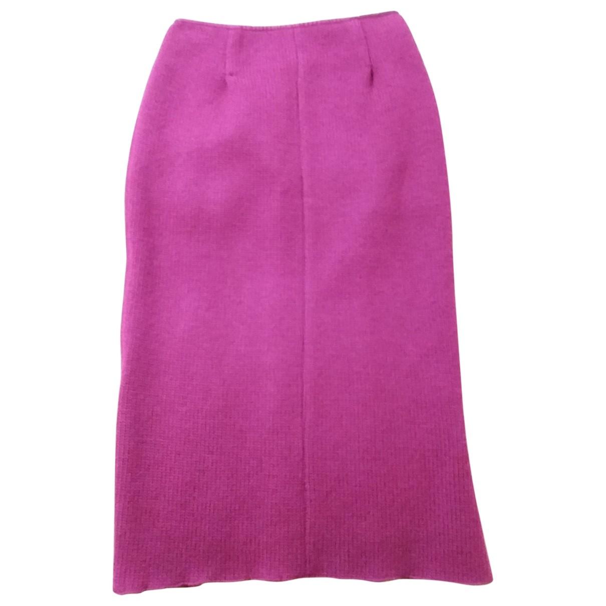 Nina Ricci - Jupe   pour femme en laine - rouge