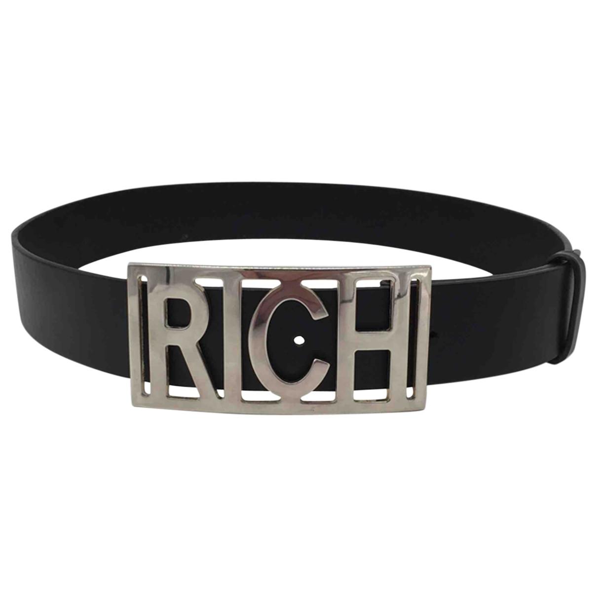 John Richmond \N Guertel in  Schwarz Leder