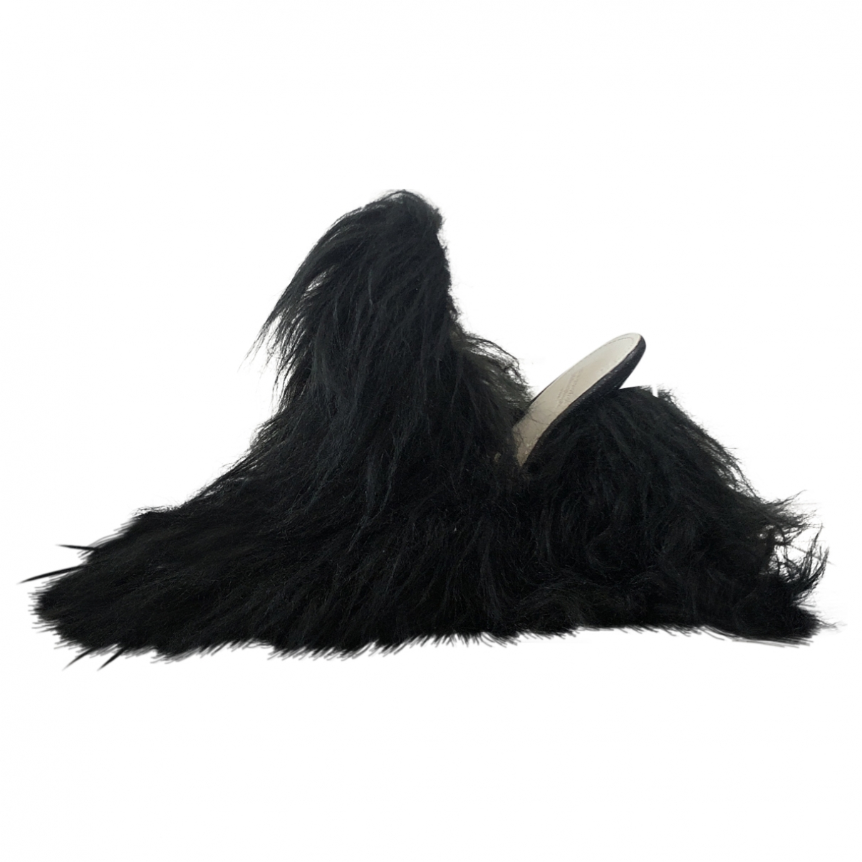 Maison Martin Margiela \N Black Fur Sandals for Women 39 EU
