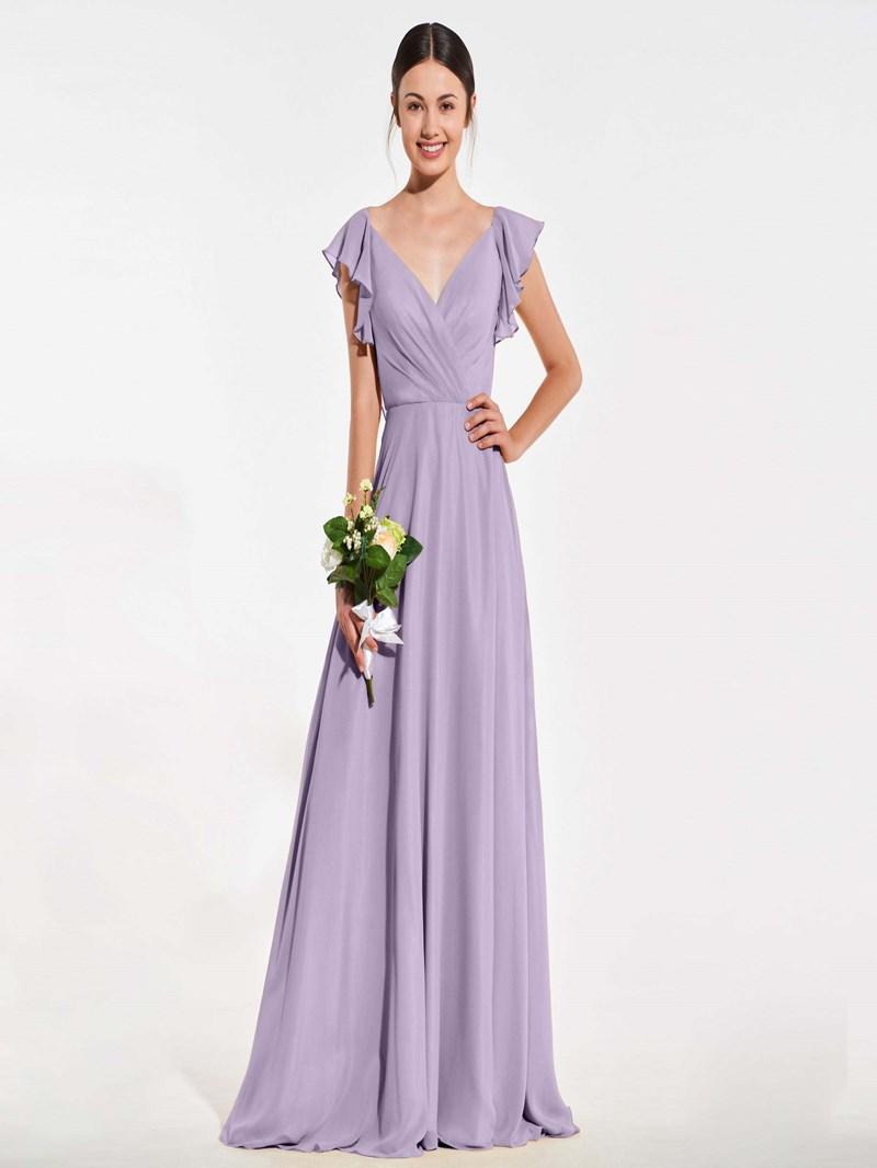 Ericdress A Line Cap Sleeve Backless Bridesmaid Dress