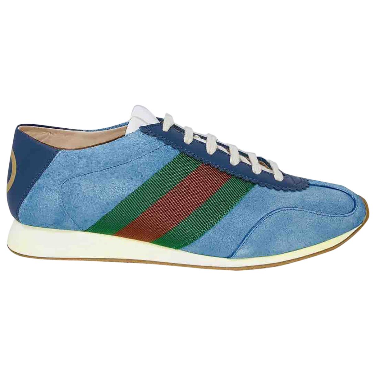 Gucci - Baskets   pour femme en suede - bleu