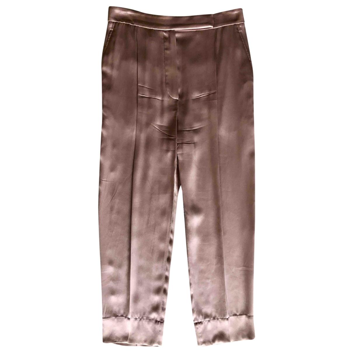 Brunello Cucinelli \N Pink Trousers for Women 42 IT
