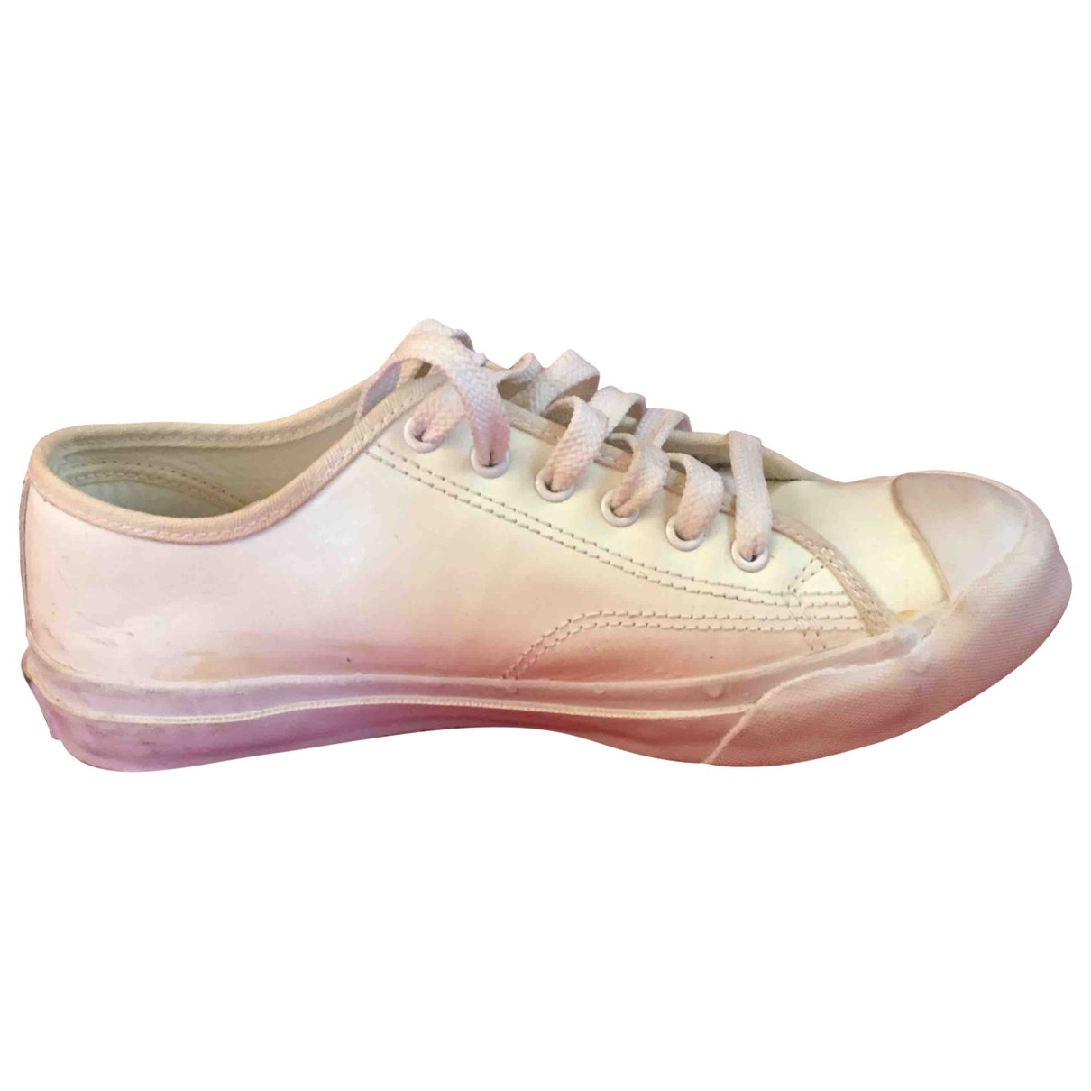 Ralph Lauren \N Sneakers in  Weiss Leder