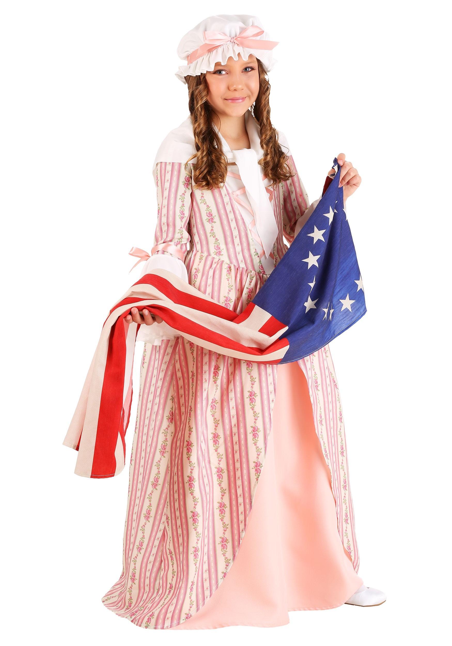 Kids Betsy Ross Costume | Girls Historical Costumes
