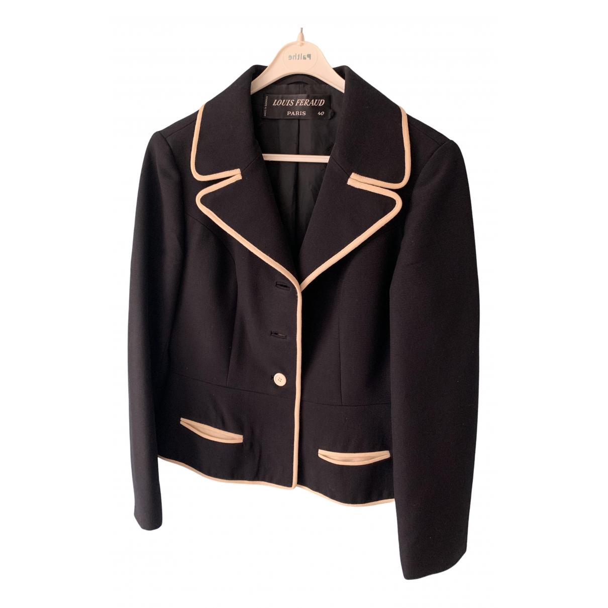 Louis Feraud \N Black Wool jacket for Women 40 FR