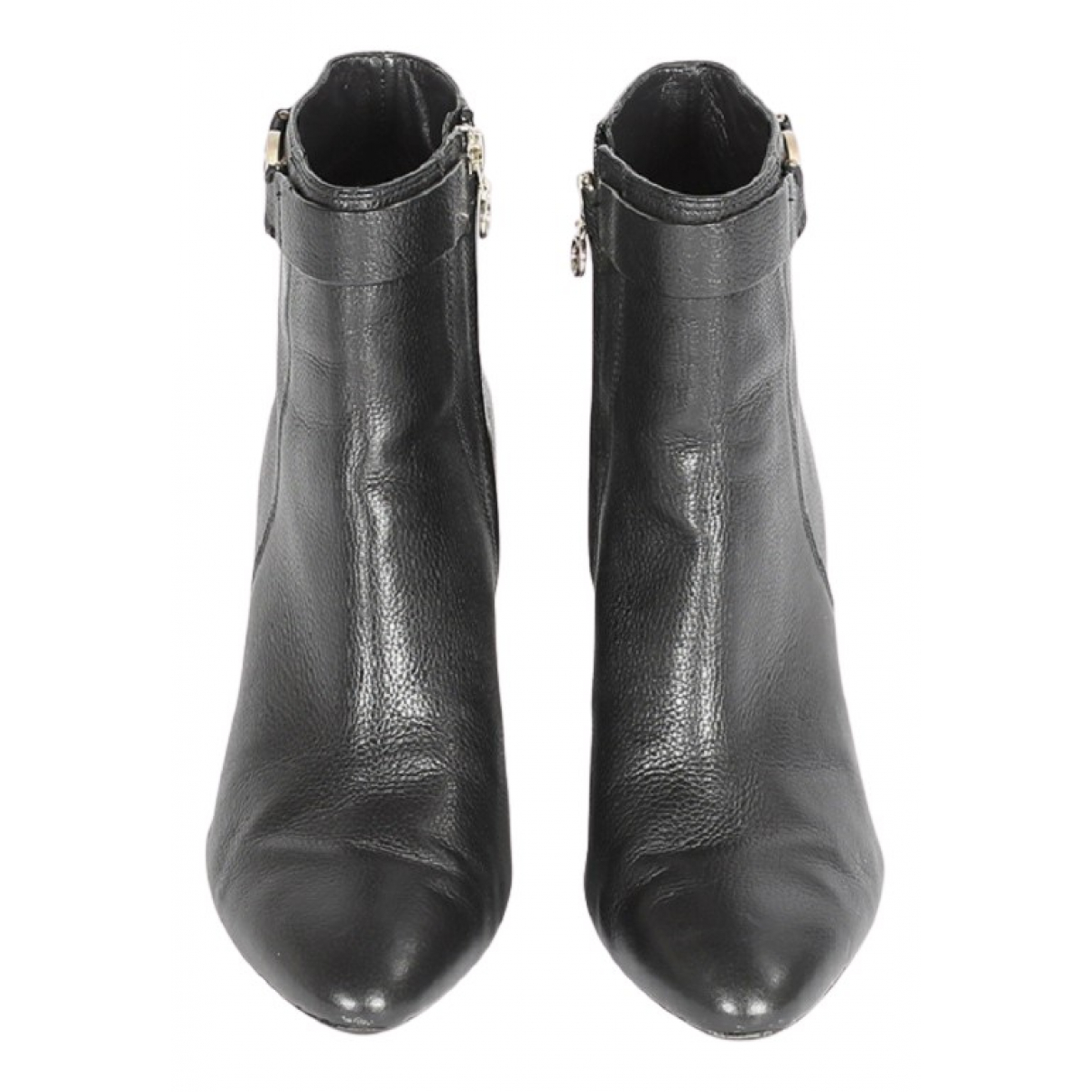 Boss - Boots   pour femme en cuir - noir