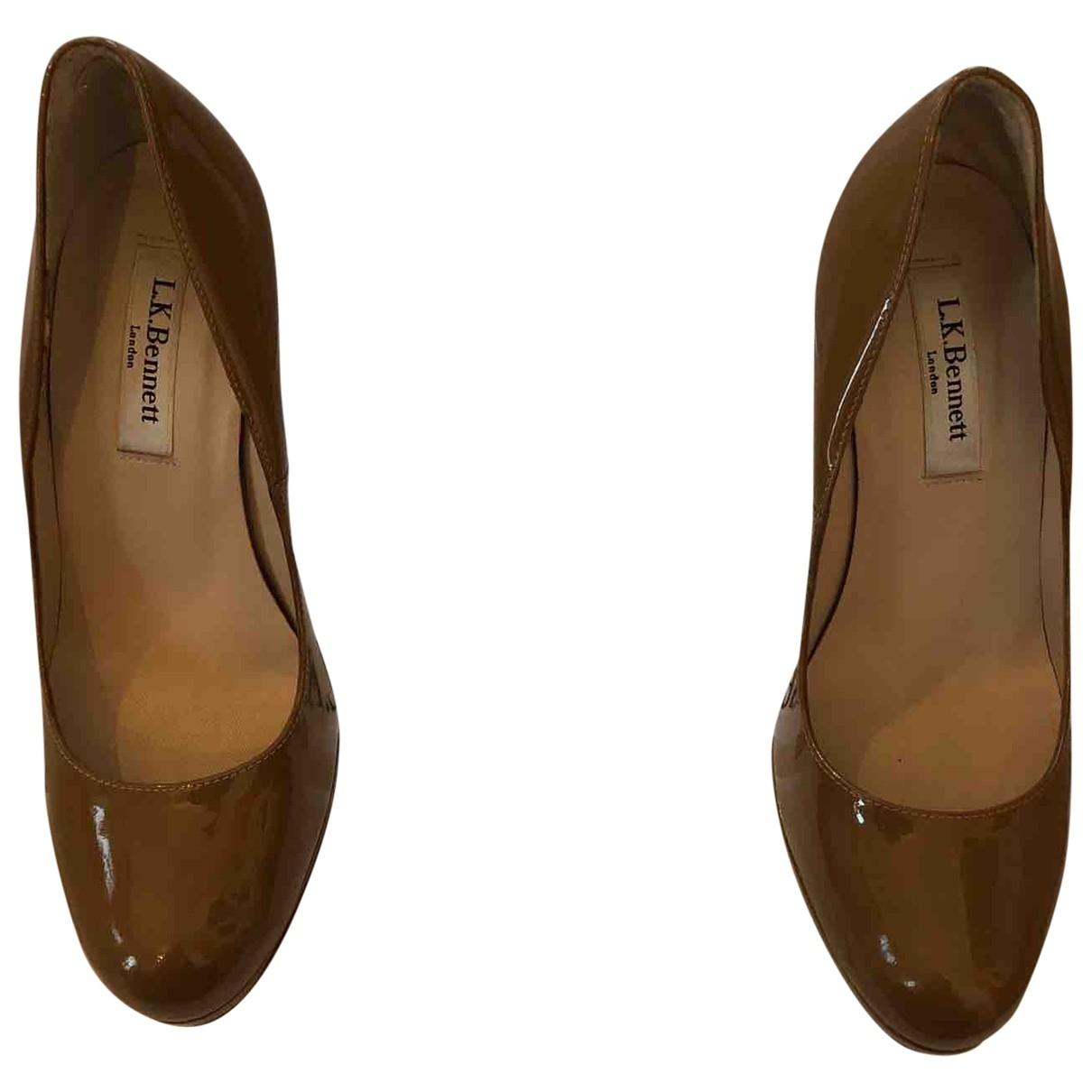 Lk Bennett \N Camel Patent leather Heels for Women 36 EU