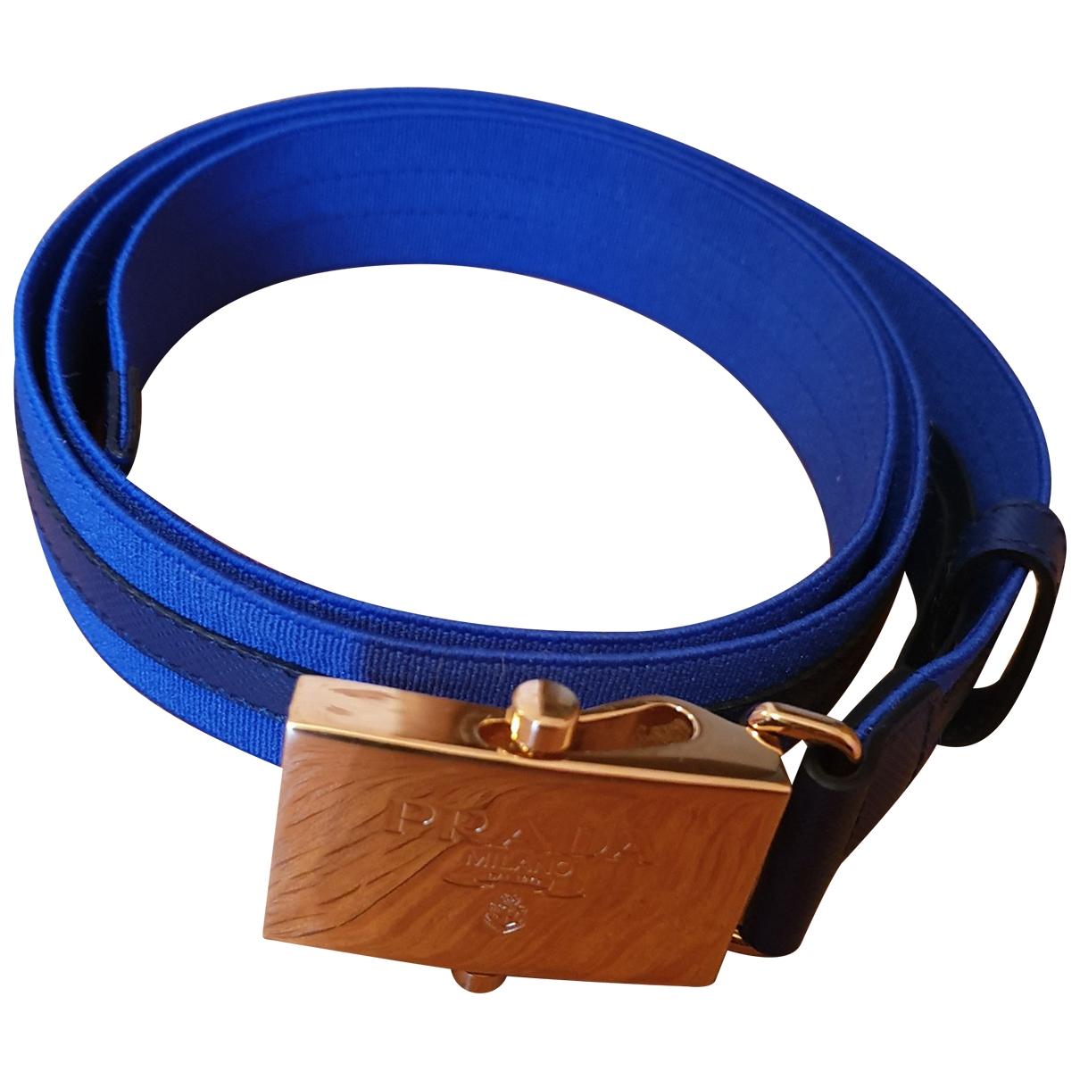 Prada \N Blue Cloth belt for Women S International