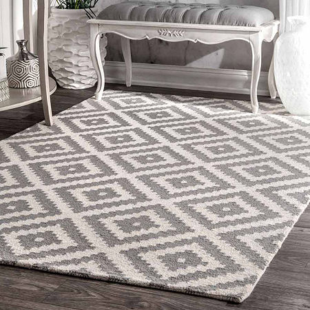 nuLoom Hand Tufted Kellee Rug, One Size , Gray