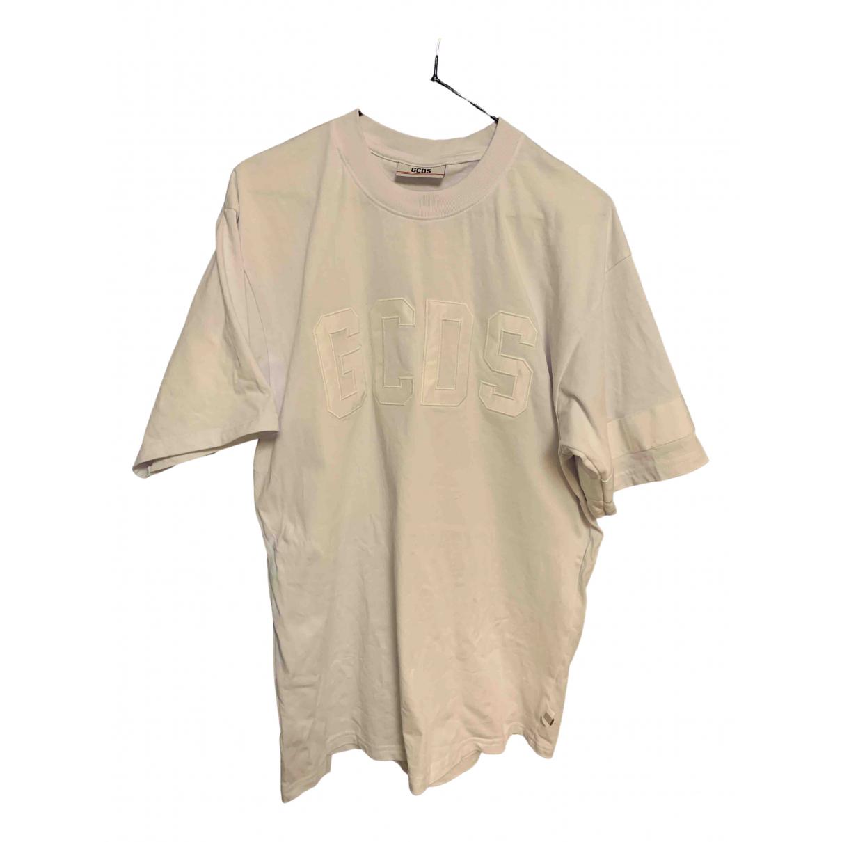 Gcds - Tee shirts   pour homme en coton - blanc