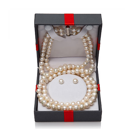 White Cultured Freshwater Pearl Sterling Silver 2-pc. Jewelry Set, One Size , No Color Family