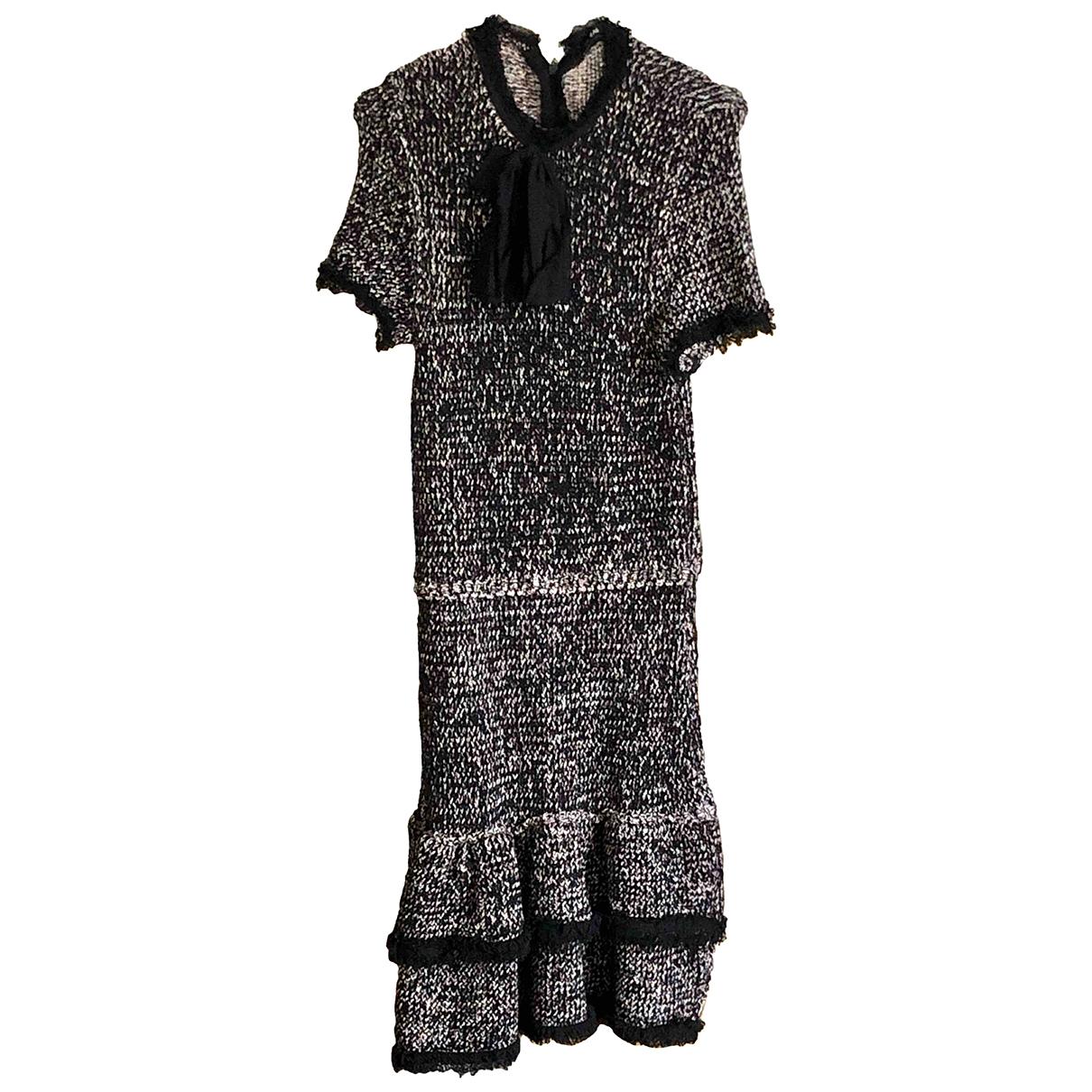 Zara \N Kleid in  Schwarz Baumwolle - Elasthan