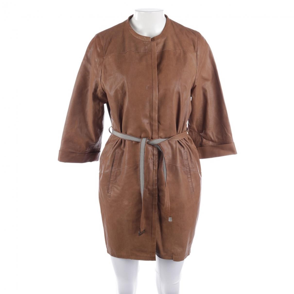 Odeeh - Veste   pour femme en cuir - marron