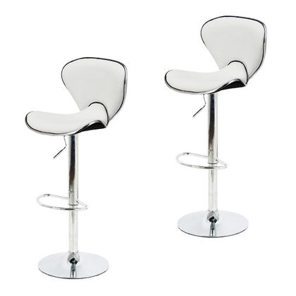 Adjustable Height Swivel Butterfly Bar Stool - Moustache@ - 2/Pack, White
