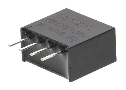 Recom RO 1W Isolated DC-DC Converter Through Hole, Voltage in 2.97 → 3.63 V dc, Voltage out 24V dc
