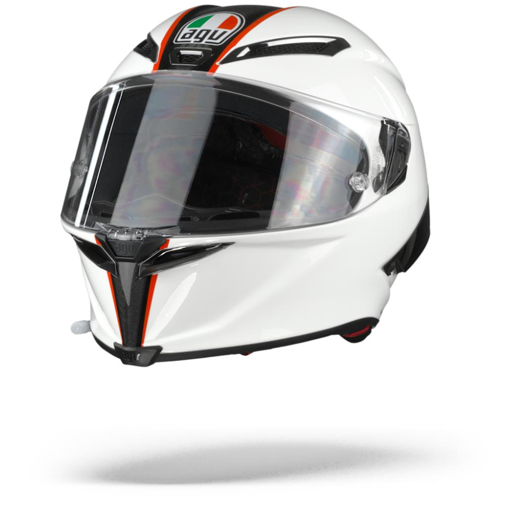 AGV Pista GP RR Scuderia Carbon Casco Integral Blanco Rojo S