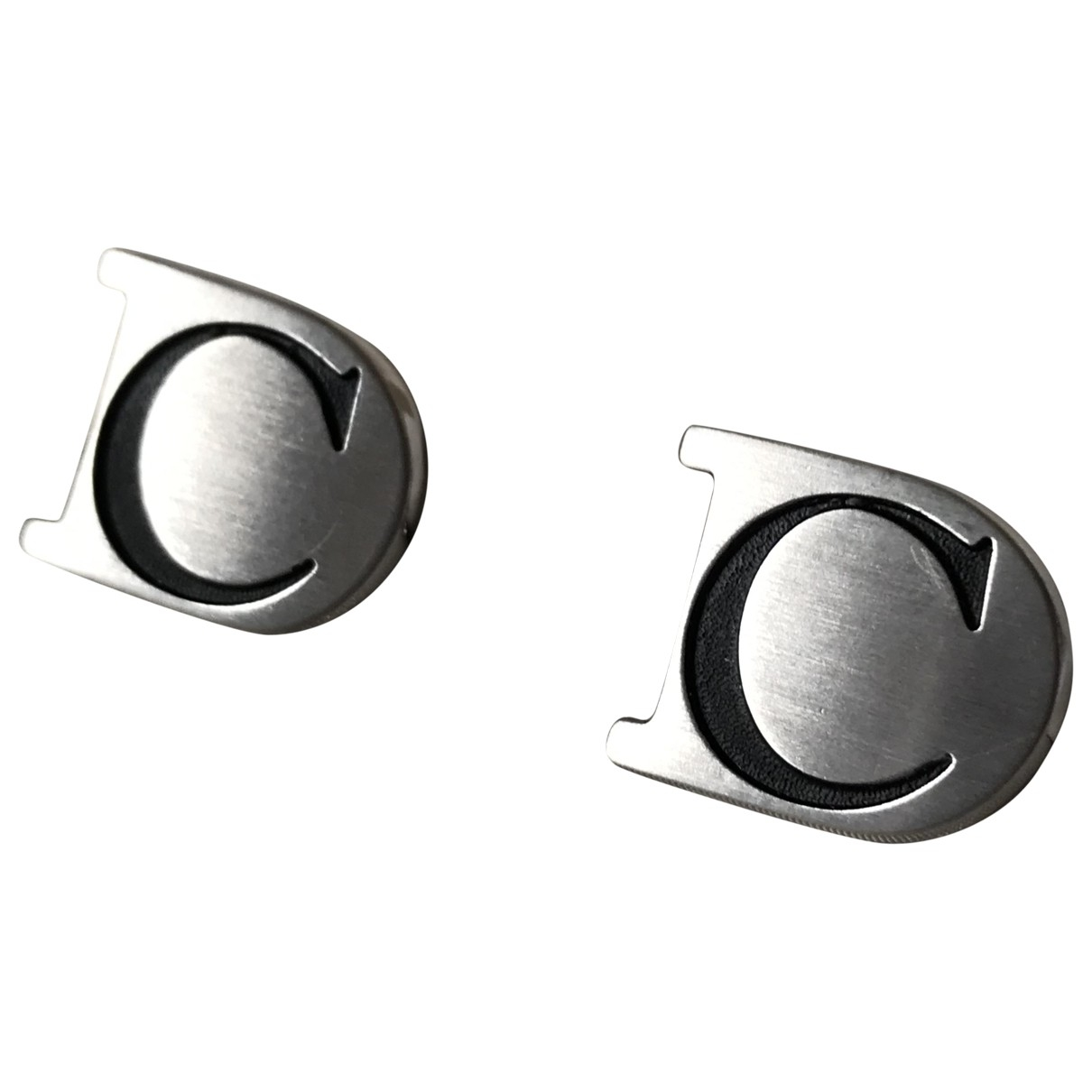 Dior - Boutons de manchette   pour homme en metal - argente