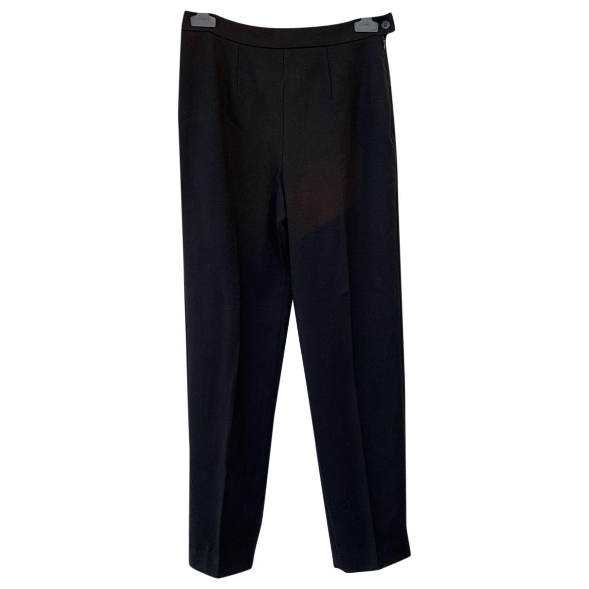 Max Mara Weekend \N Black Wool Trousers for Women 44 IT