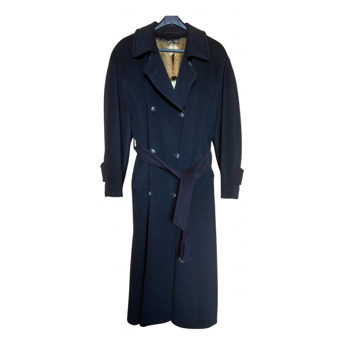 - Manteau Oversize pour femme en fourrure - marine