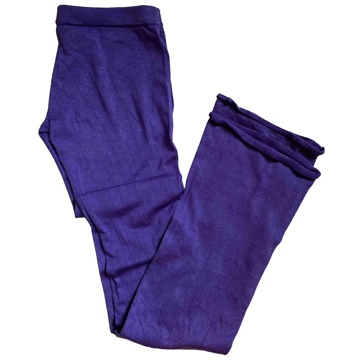 Patrizia Pepe \N Purple Silk Trousers for Women S International