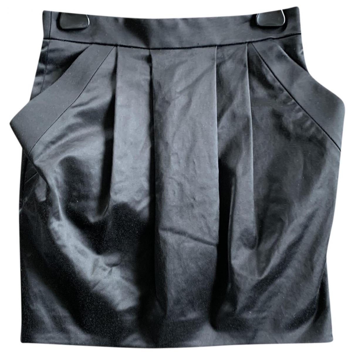 Pierre Balmain \N Black Cotton - elasthane skirt for Women 36 FR