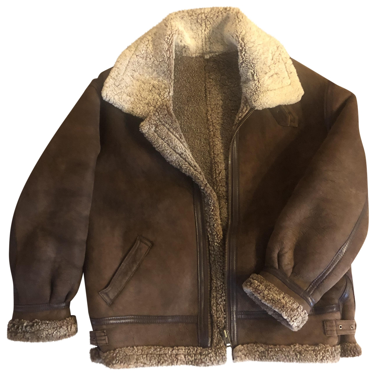 Non Signé / Unsigned \N Brown Suede jacket  for Men 46 IT