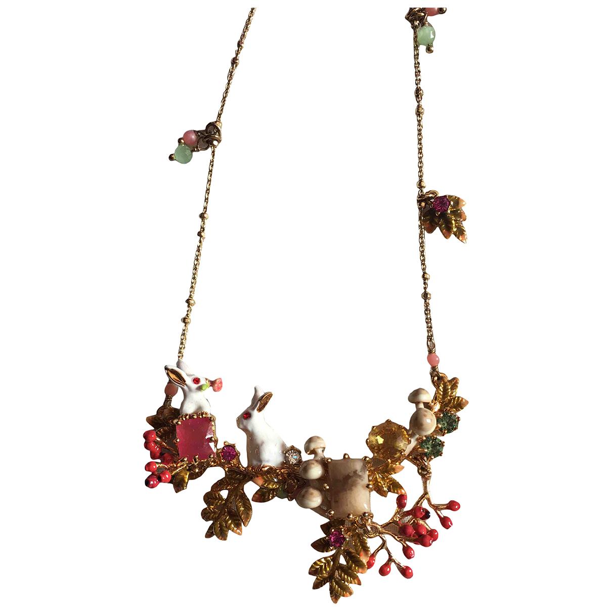 Les Néréides \N Pink Metal necklace for Women \N